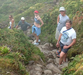 Intrepid hikers on Mount Soufriere