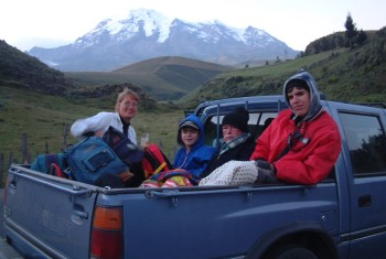 Freezing on the equator! Approach to Ecuador's highest: Chimboarazo Volcano