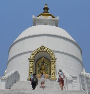World Peace Pagoda above Pokhara